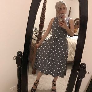 Lovely grey poke a dots dress